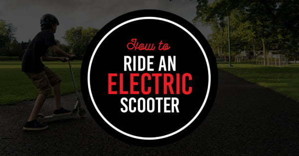 how to ride electric scooter