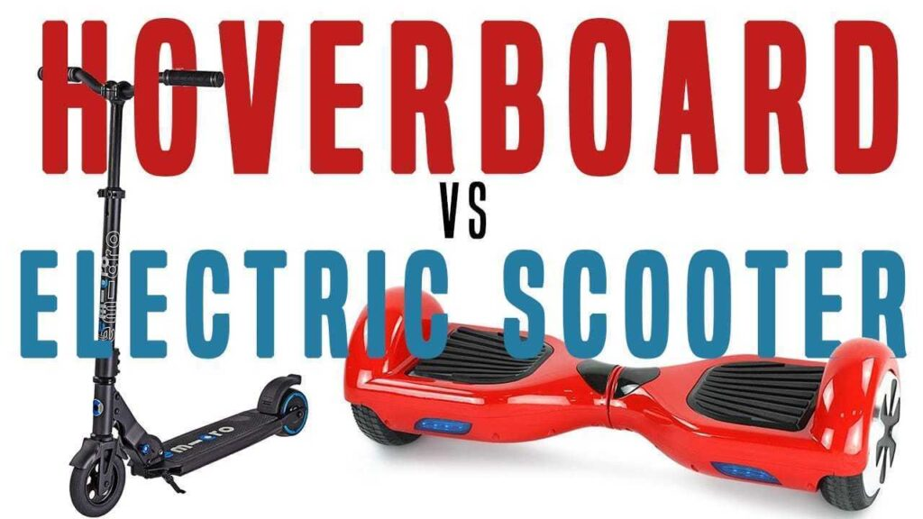 electric scooter vs hoverboard