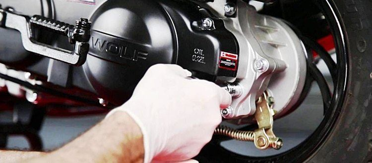 how to change gear oil on a 150cc scooter
