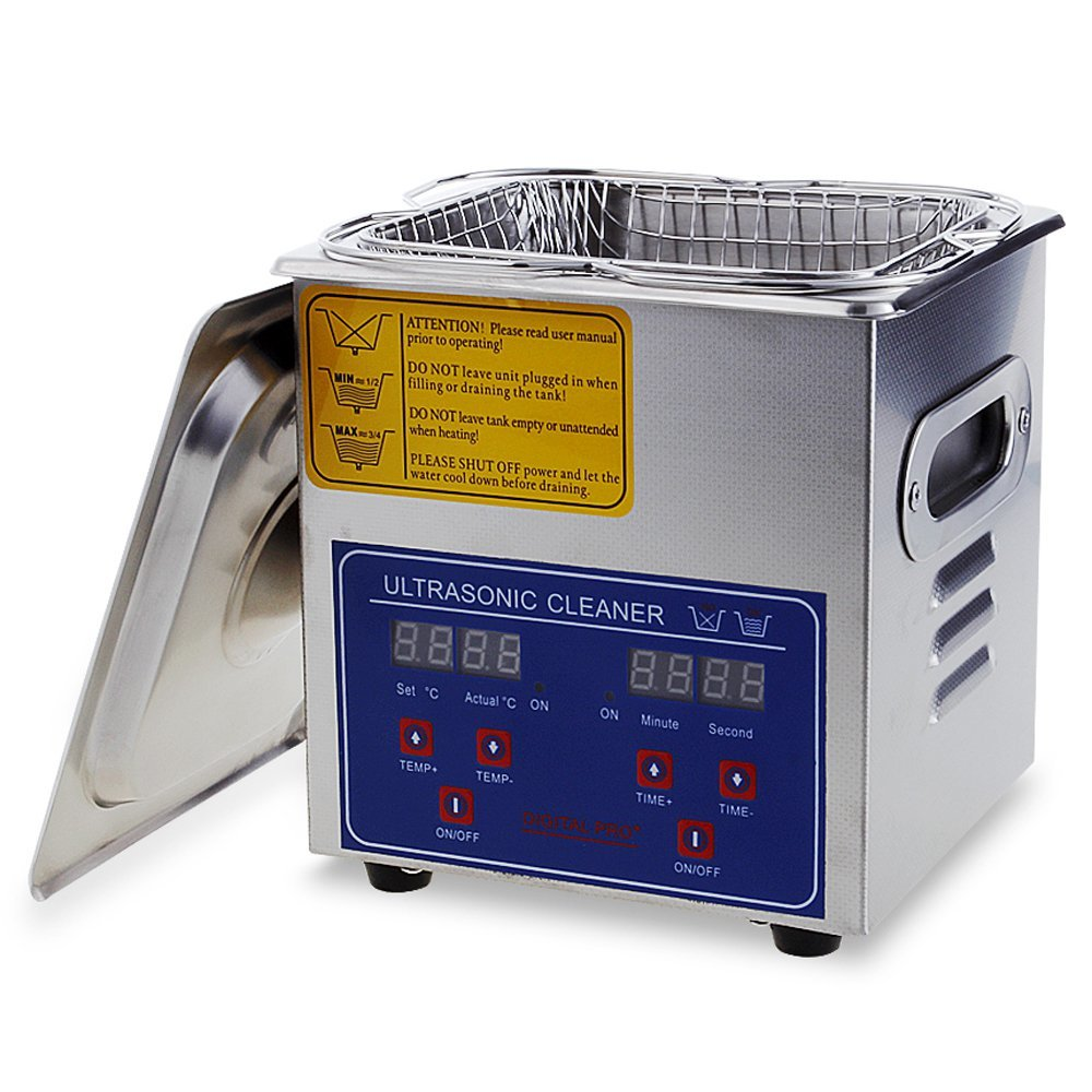 Flexzion Commercial Ultrasonic Cleaner Large Capacity Stainless Steel with Heater