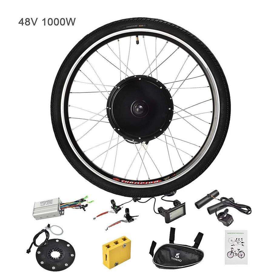 Murtisol Electric Bicycle Motor Conversion Kit with E-Bike Front Rear Wheel