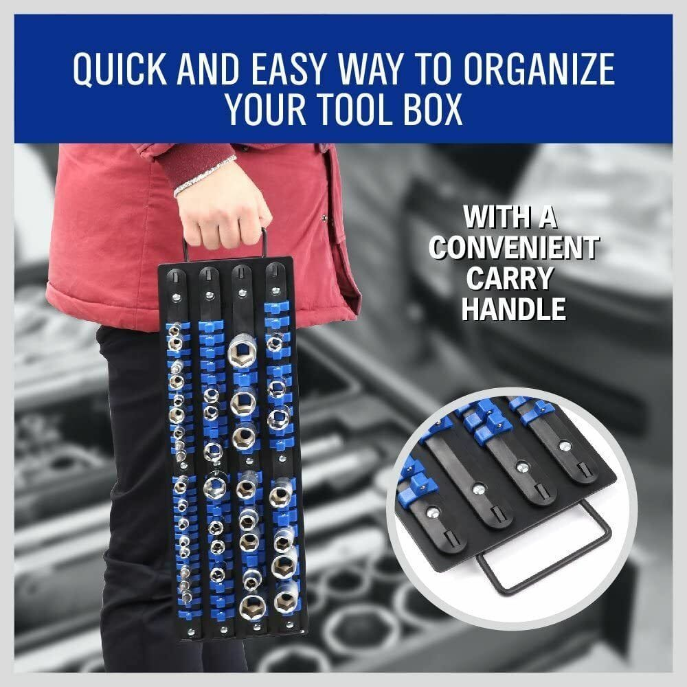 HORUSDY 80-Piece Heavy Duty Socket Organizer