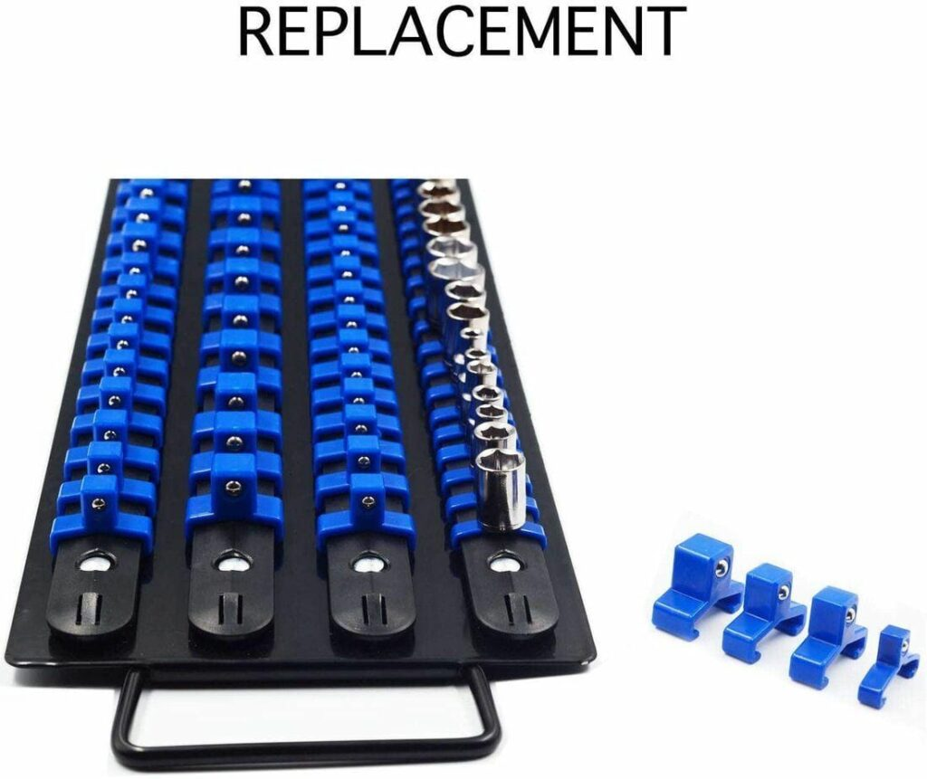 WXTOOLS 80-Pcs Iron Premium Quality Adjustable Socket Holders
