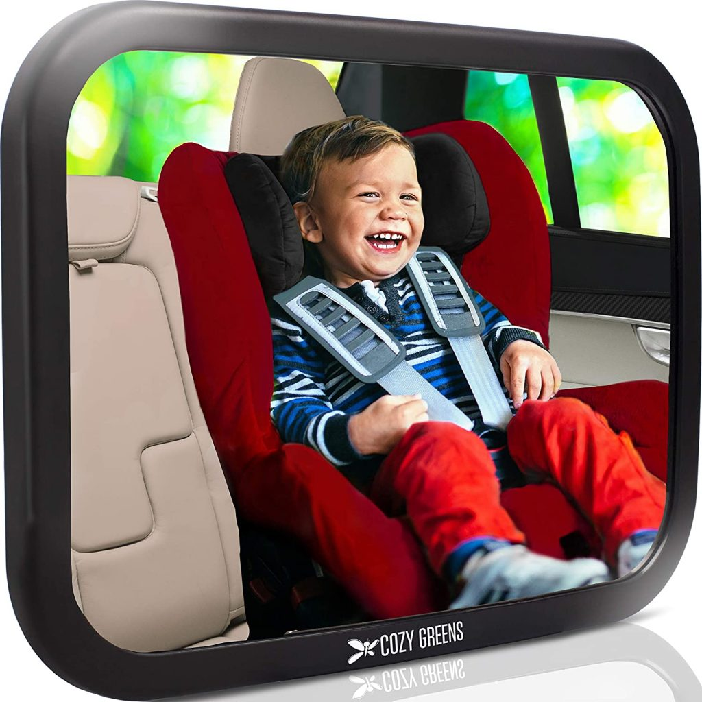 cozy green baby car mirror