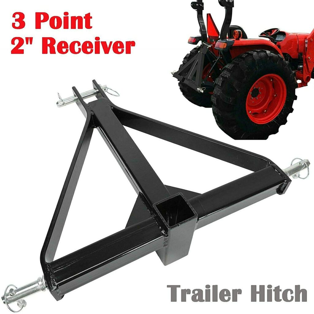 2 inch Receiver 3 Point Trailer Hitch Category 1
